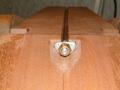 eingesetzter Halsspannstab (Trussrod)