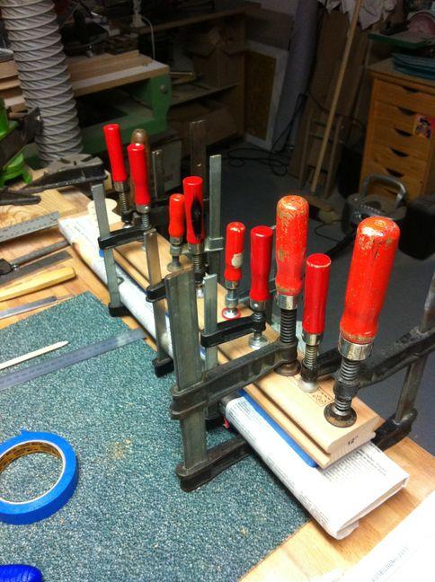Griffbrett aufleimen fretboard glueing